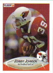 1990 Fleer Update #U43 Johnny Johnson RC