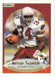 1990 Fleer Update #U45 Anthony Thompson RC