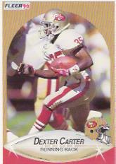 1990 Fleer Update #U46 Dexter Carter RC