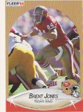 1990 Fleer Update #U49 Brent Jones RC
