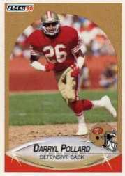 1990 Fleer Update #U50 Darryl Pollard RC