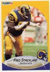 1990 Fleer Update #U55 Fred Strickland RC