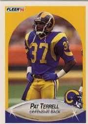 1990 Fleer Update #U56 Pat Terrell RC