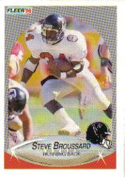 1990 Fleer Update #U57 Steve Broussard RC