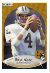 1990 Fleer Update #U63 Steve Walsh