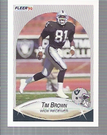 1990 Fleer Update #U65 Tim Brown