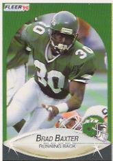 1990 Fleer Update #U74 Brad Baxter RC
