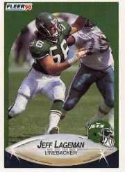 1990 Fleer Update #U76 Jeff Lageman