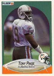 1990 Fleer Update #U80 Tony Paige