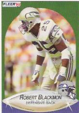 1990 Fleer Update #U82 Robert Blackmon RC