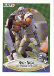 1990 Fleer Update #U84 Andy Heck