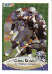 1990 Fleer Update #U85 Cortez Kennedy RC