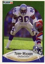 1990 Fleer Update #U86 Terry Wooden RC