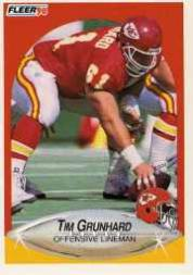 1990 Fleer Update #U88 Tim Grunhard RC