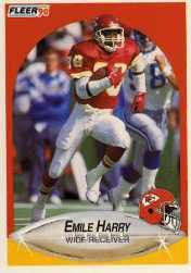 1990 Fleer Update #U89 Emile Harry RC