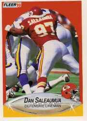 1990 Fleer Update #U90 Dan Saleaumua