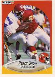 1990 Fleer Update #U91 Percy Snow
