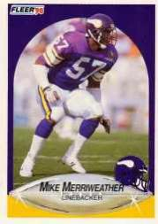 1990 Fleer Update #U94 Mike Merriweather