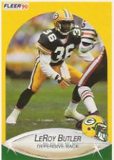 1990 Fleer Update #U97 LeRoy Butler RC