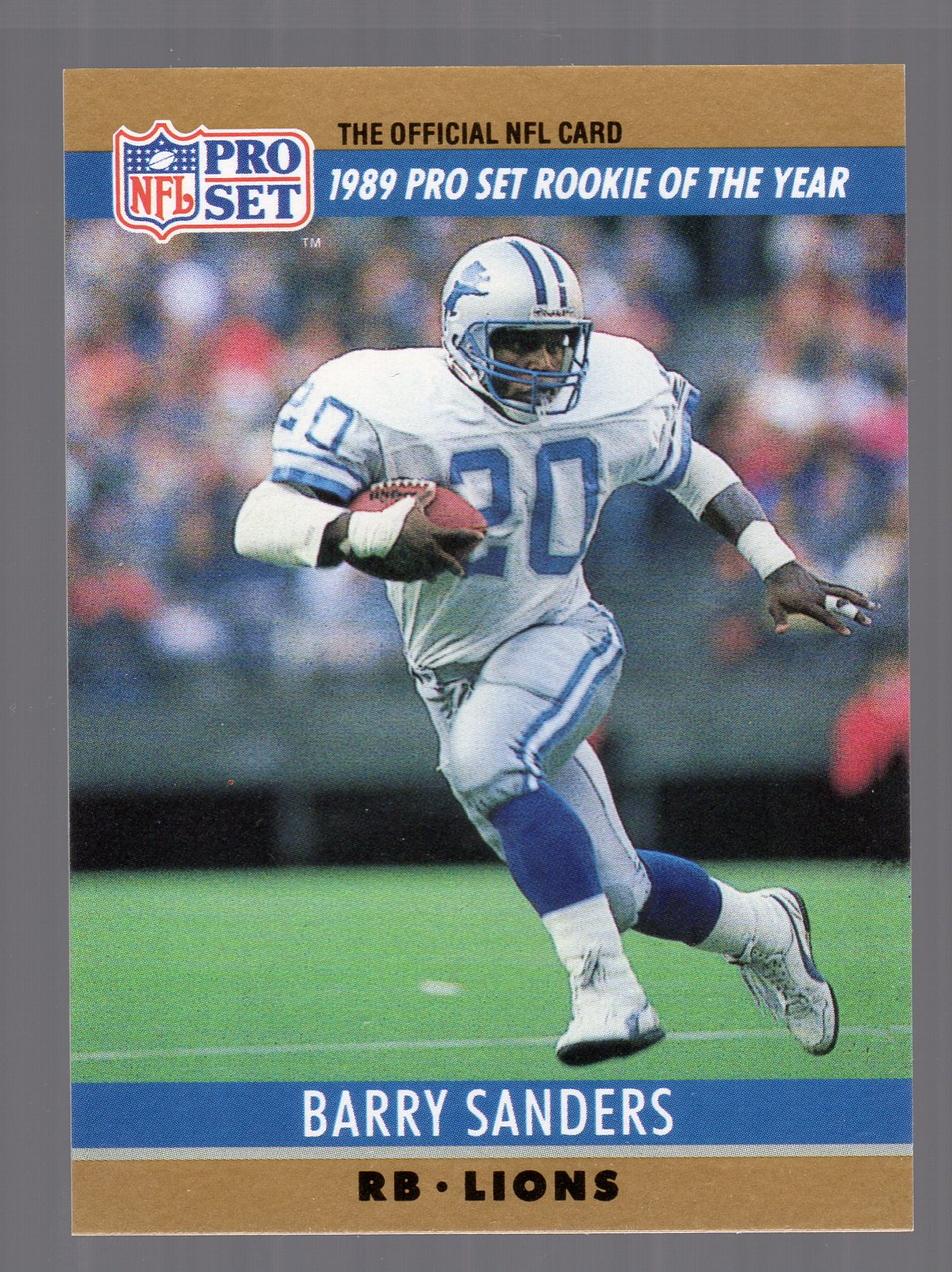 1990 Pro Set #1B Barry Sanders/Rookie of the Year