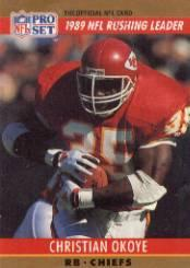 1990 Pro Set #9 Christian Okoye LL
