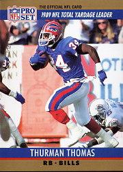 1990 Pro Set #10 Thurman Thomas LL