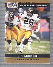 1990 Pro Set #16 Rod Woodson/Kickoff Return Leader