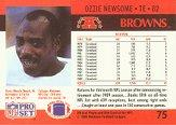 1990 Pro Set #75A Ozzie Newsome ERR/(Born Muscle Shoals) back image