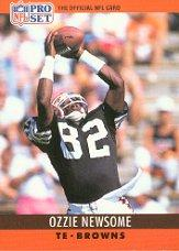 1990 Pro Set #75A Ozzie Newsome ERR/(Born Muscle Shoals) front image