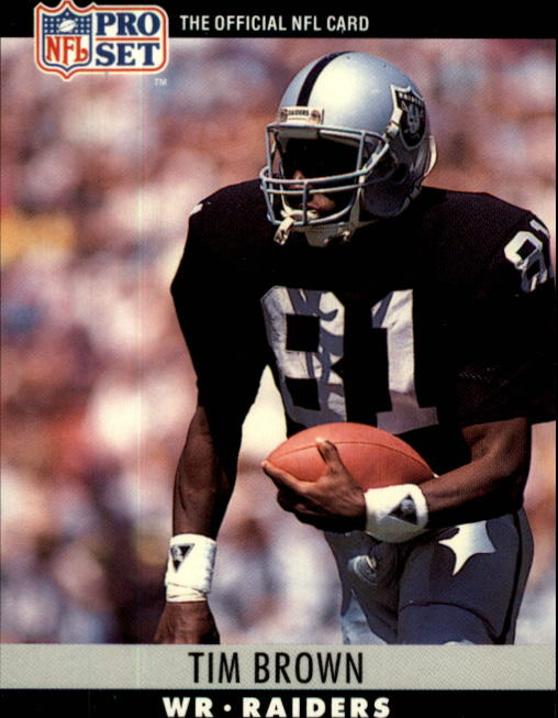 1990 Pro Set #150 Tim Brown