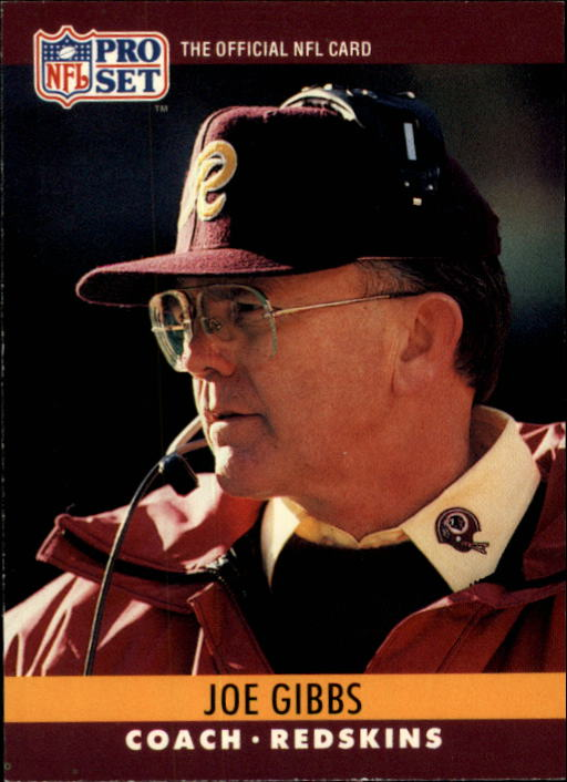 1990 Pro Set #333 Joe Gibbs CO