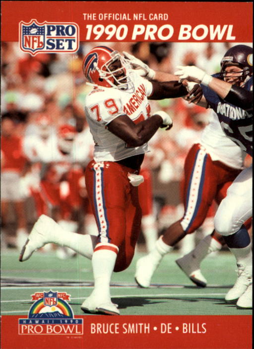 1990 Pro Set #371 Bruce Smith PB