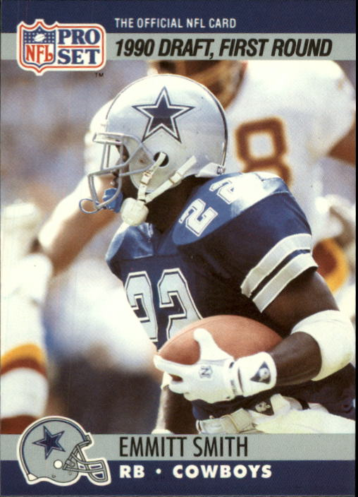 1990 Pro Set #685 Emmitt Smith RC