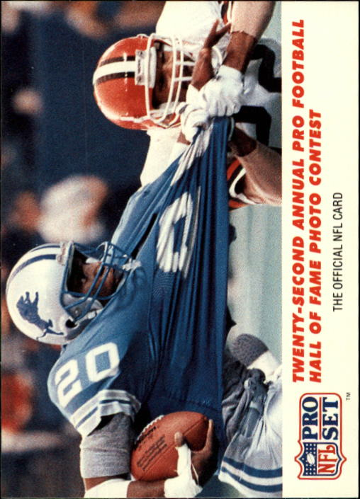 1990 Pro Set #794 Barry Sanders PHOTO