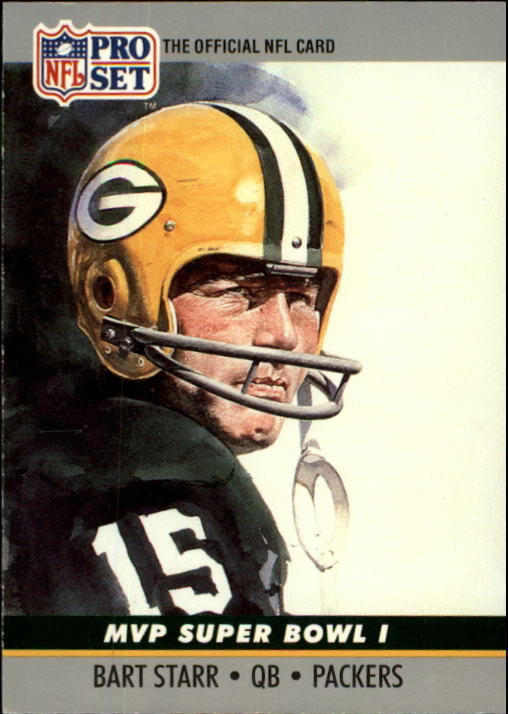 1990 Pro Set Super Bowl MVP's #1 Bart Starr