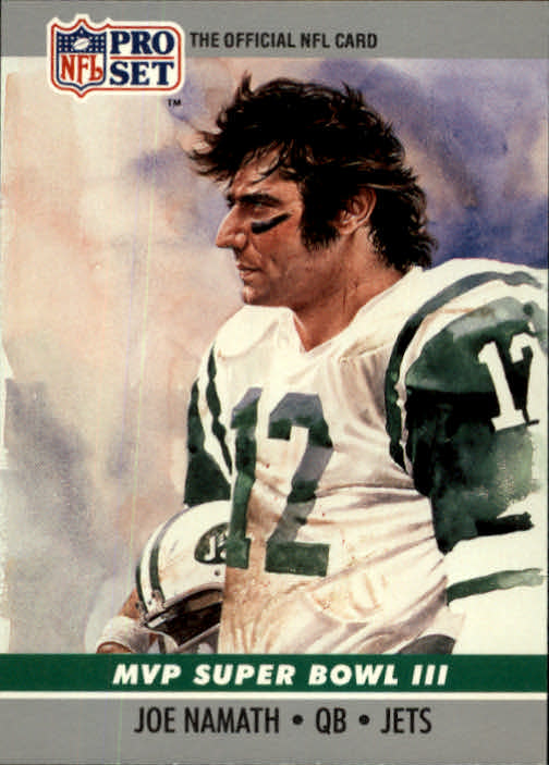 1990 Pro Set Super Bowl MVP's #3 Joe Namath