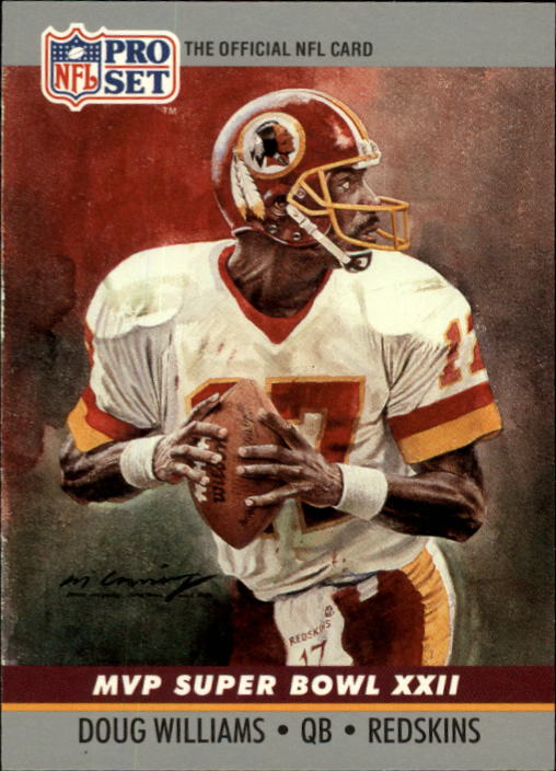 1990 Pro Set Super Bowl MVP's #22 Doug Williams front image