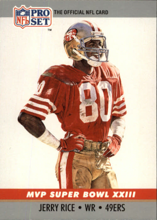 1990 Pro Set Super Bowl MVP's #23 Jerry Rice