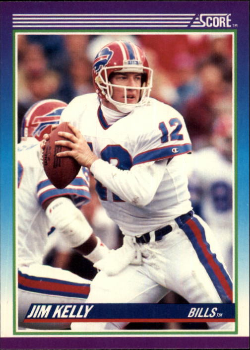1990 Score #112 Jim Kelly front image