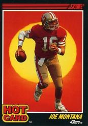 1990 Score Hot Cards #1 Joe Montana