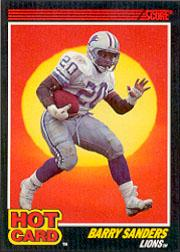 1990 Score Hot Cards #3 Barry Sanders