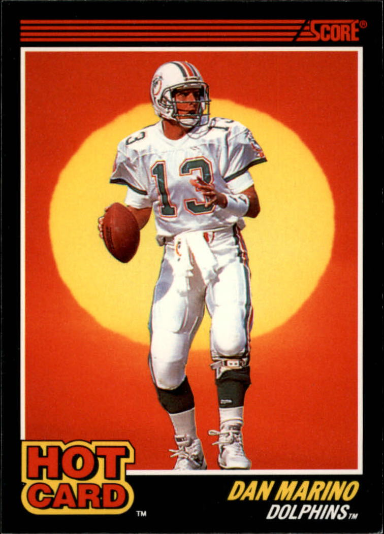 1990 Score Hot Cards #9 Dan Marino