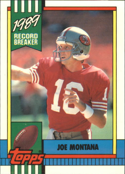 1990 Topps Tiffany #1 Joe Montana RB front image