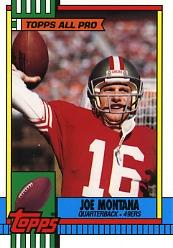 1990 Topps Tiffany #13 Joe Montana