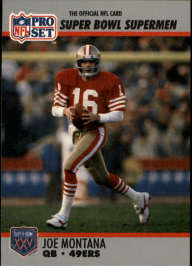 1990-91 Pro Set Super Bowl 160 #33 Joe Montana