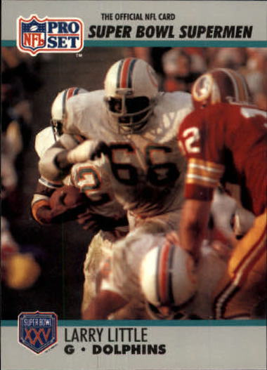 1990-91 Pro Set Super Bowl 160 #66 Larry Little