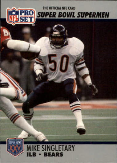 1990-91 Pro Set Super Bowl 160 #93 Mike Singletary