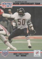 1990-91 Pro Set Super Bowl XXV Binder #20 Mike Singletary