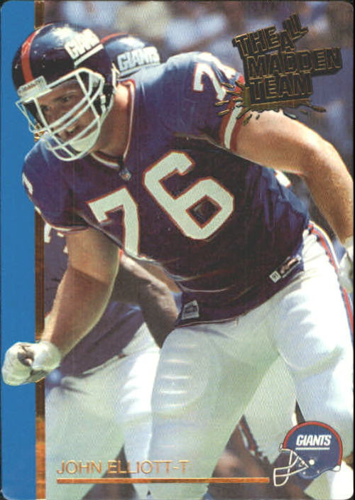 1991 Action Packed All-Madden #8 John Elliott