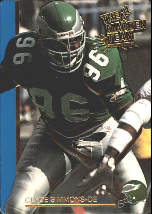1991 Action Packed All-Madden #18 Clyde Simmons